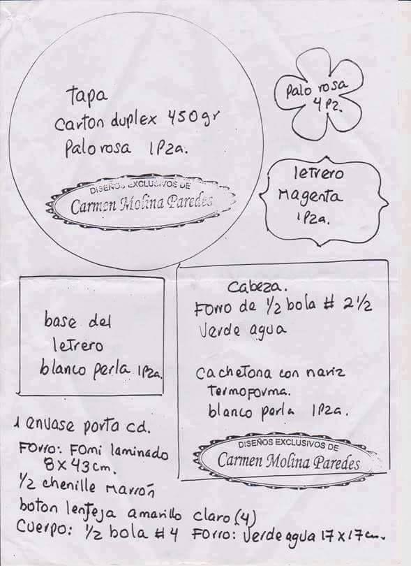 Pin de Ivania Araya en Muñecos planos | Pinterest | Planos
