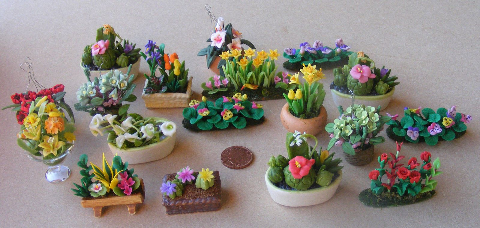 1:12 dollhouse miniature handmade garden plants
