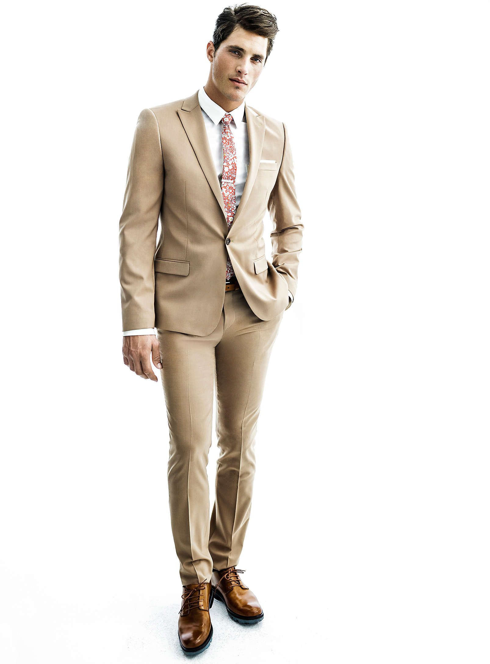 5f631da34d07a Khaki suits are great for the spring summer months.