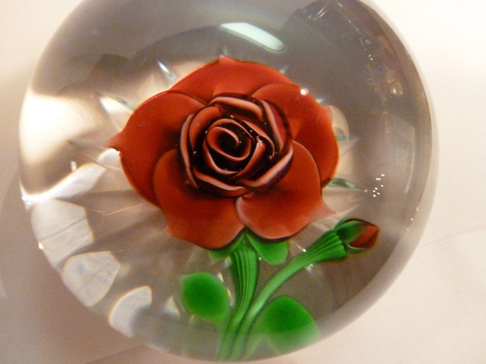 Beautiful baccarat red rose flower paperweight red rose flower beautiful baccarat red rose flower paperweight mightylinksfo