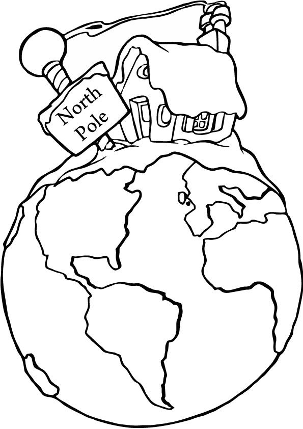 northpole coloring pages north pole coloring picture