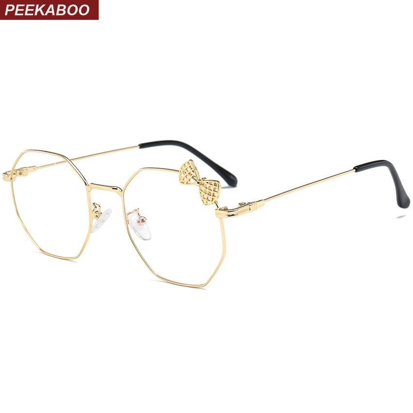 b4955c8483 Peekaboo Clear Lens Square Glasses Women Frame Butterfly Decor Black Gold  Metal Fashion Glass Decoration Party