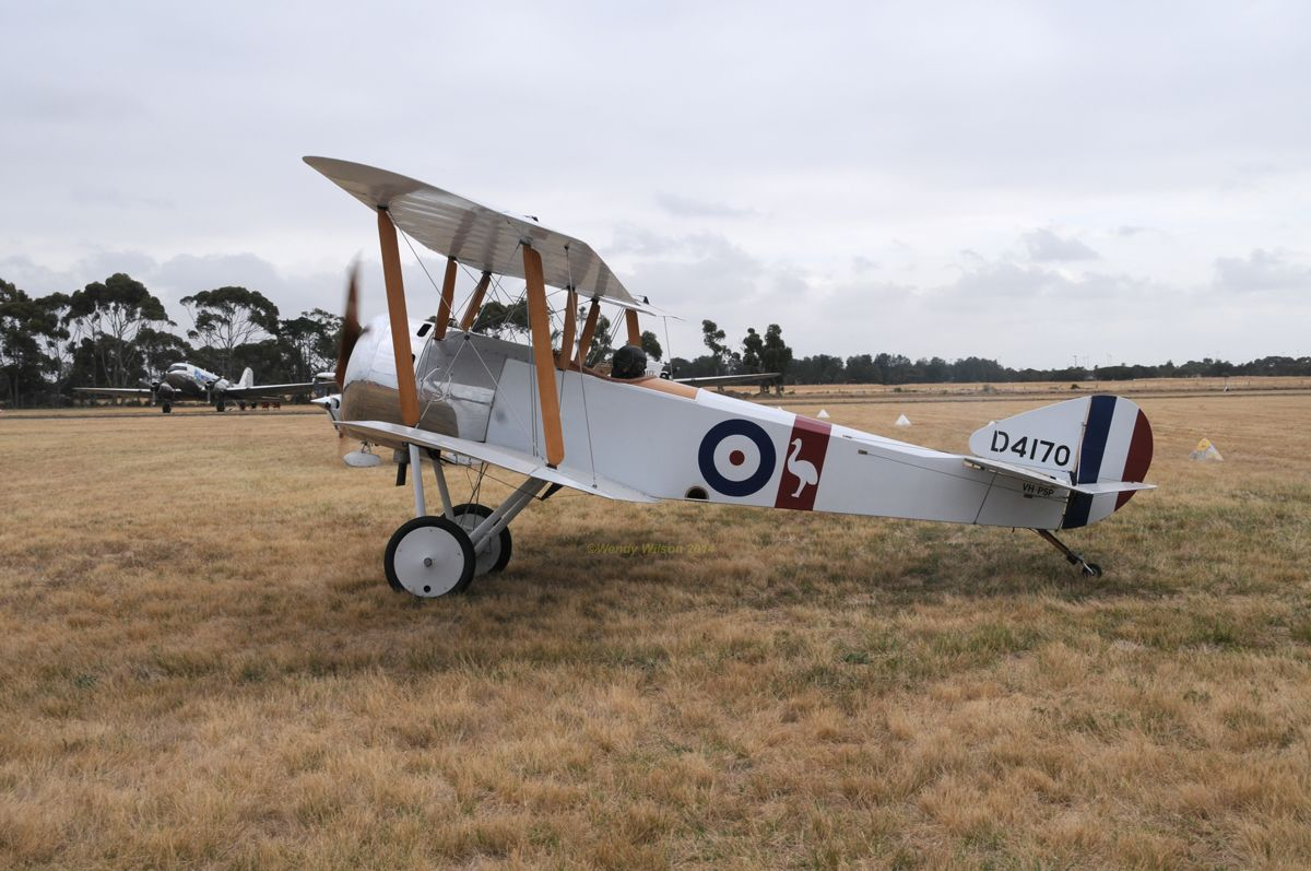 Sopwith Pup replica VH-PSP taken at #CMA2014 Point Cook.
