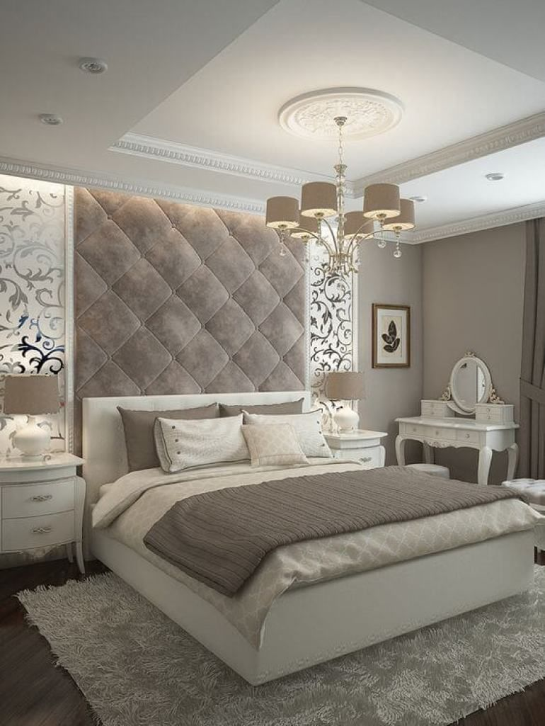 13. Tufted Wall Above Headboard in Master Bedroom Ideas