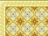 Villa Lagoon Cement Tile - Monterey Collection, Madrid Pattern - mediterranean - floor tiles - other metros - by Lundy Wilder