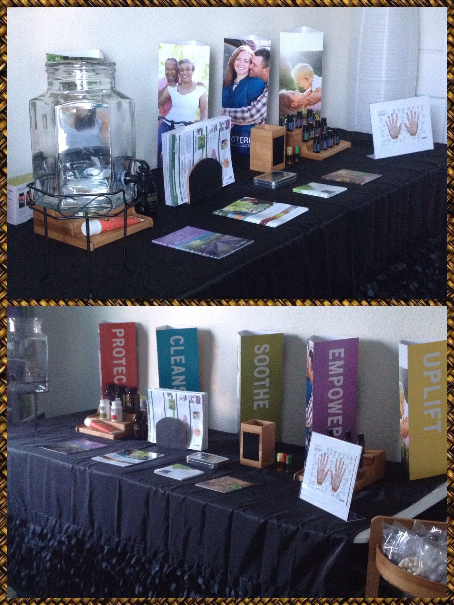 My 1st Vendor Booth Set Up For Dōterra For The 1st Annual