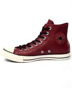 red leather converse