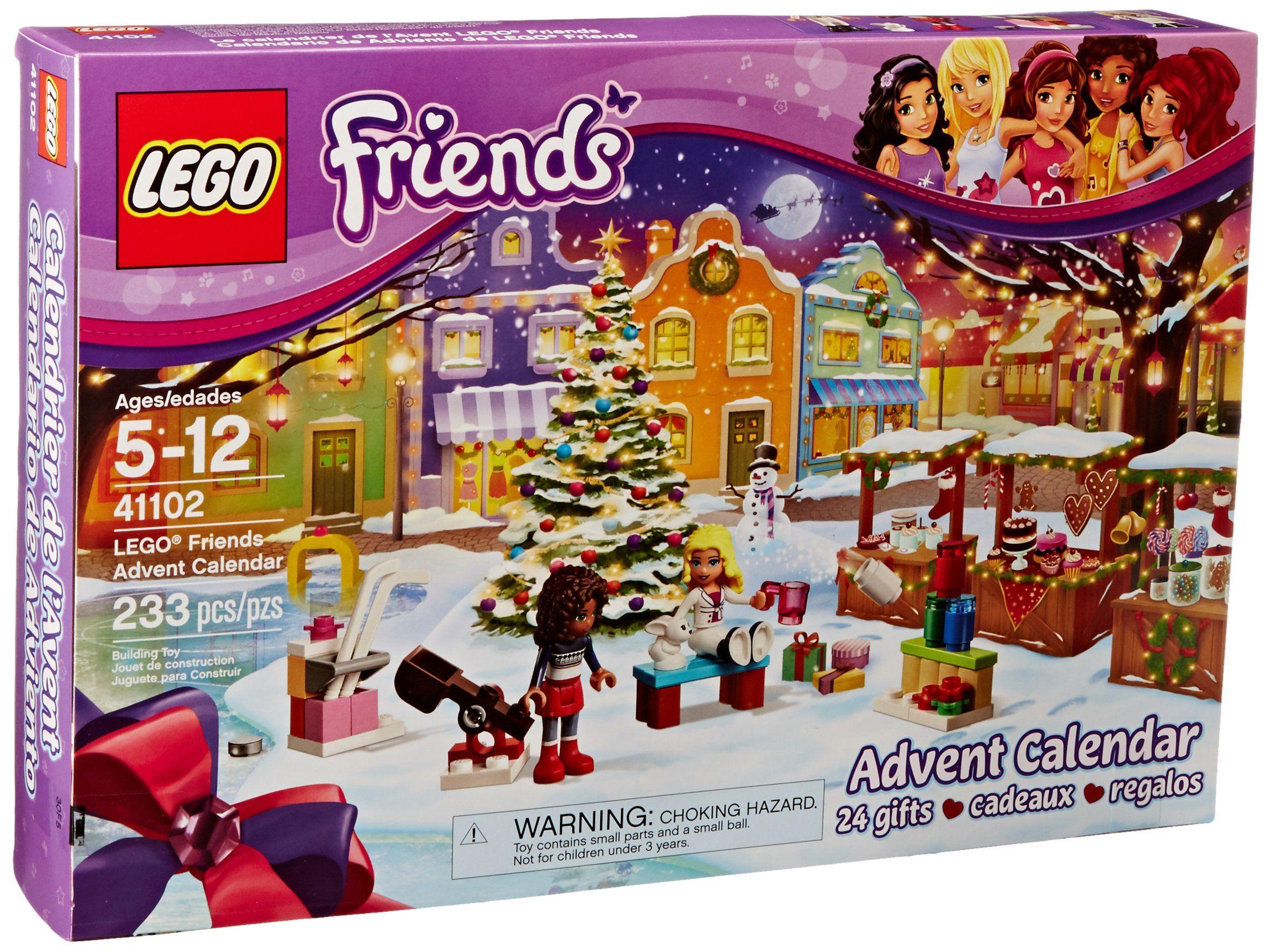 Amazon Com Lego Friends 41102 Advent Calendar Building Kit Toys