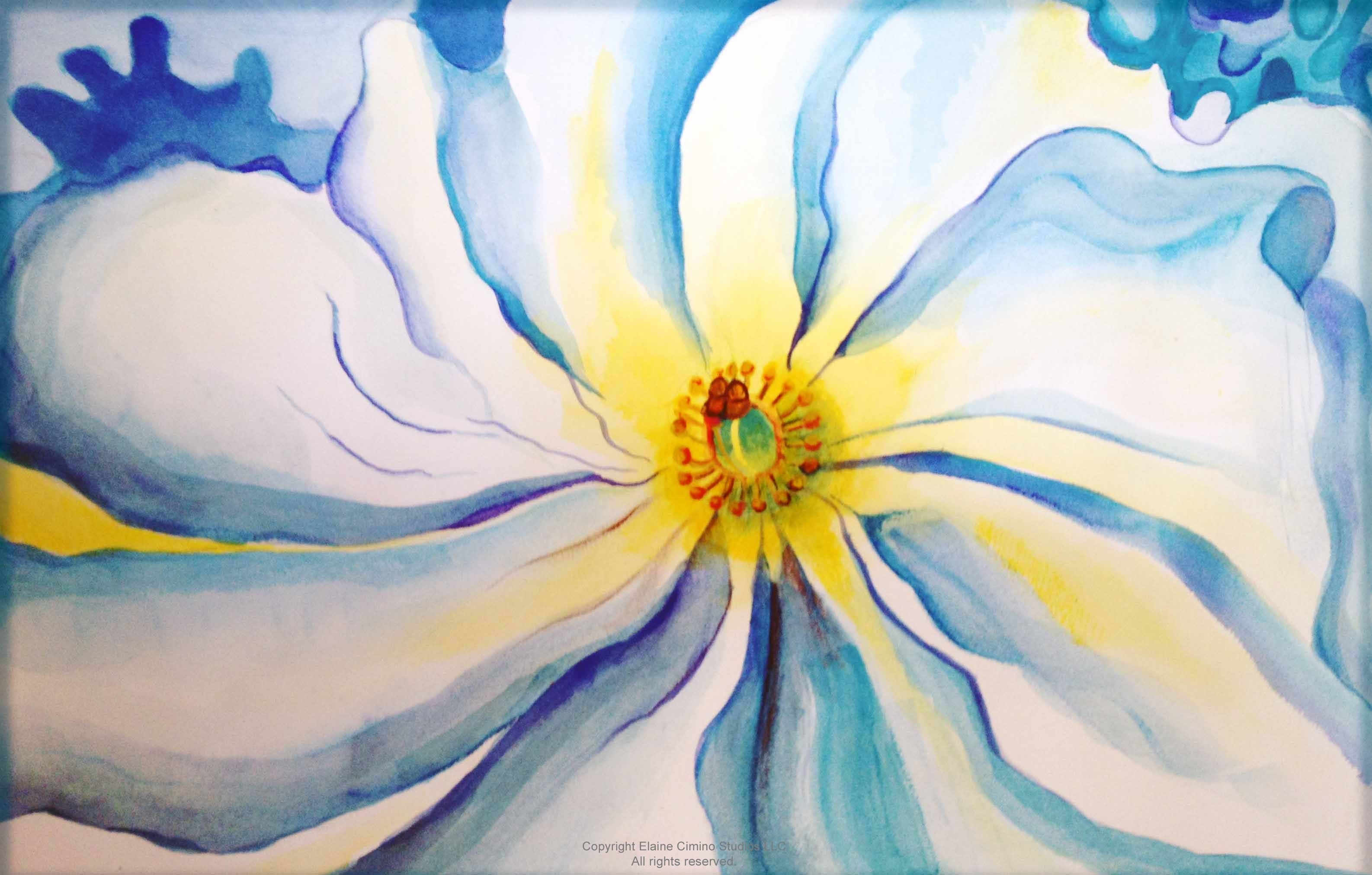 Flower of georgia o keeffe elaine cimino studioselaine Teach me how to draw a flower