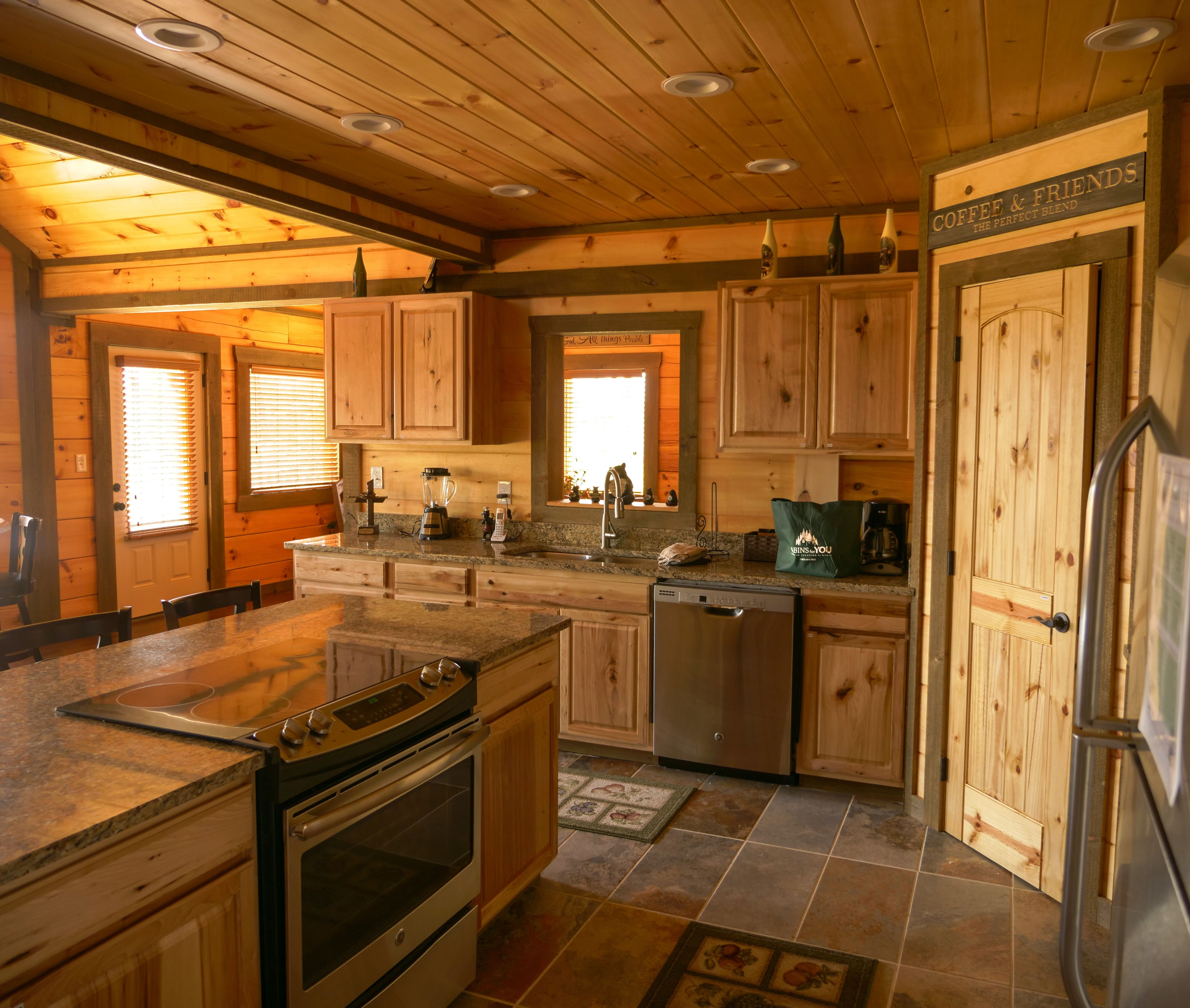 The Perfect Blend Of Rustic Mountain Details And Modern Appliances