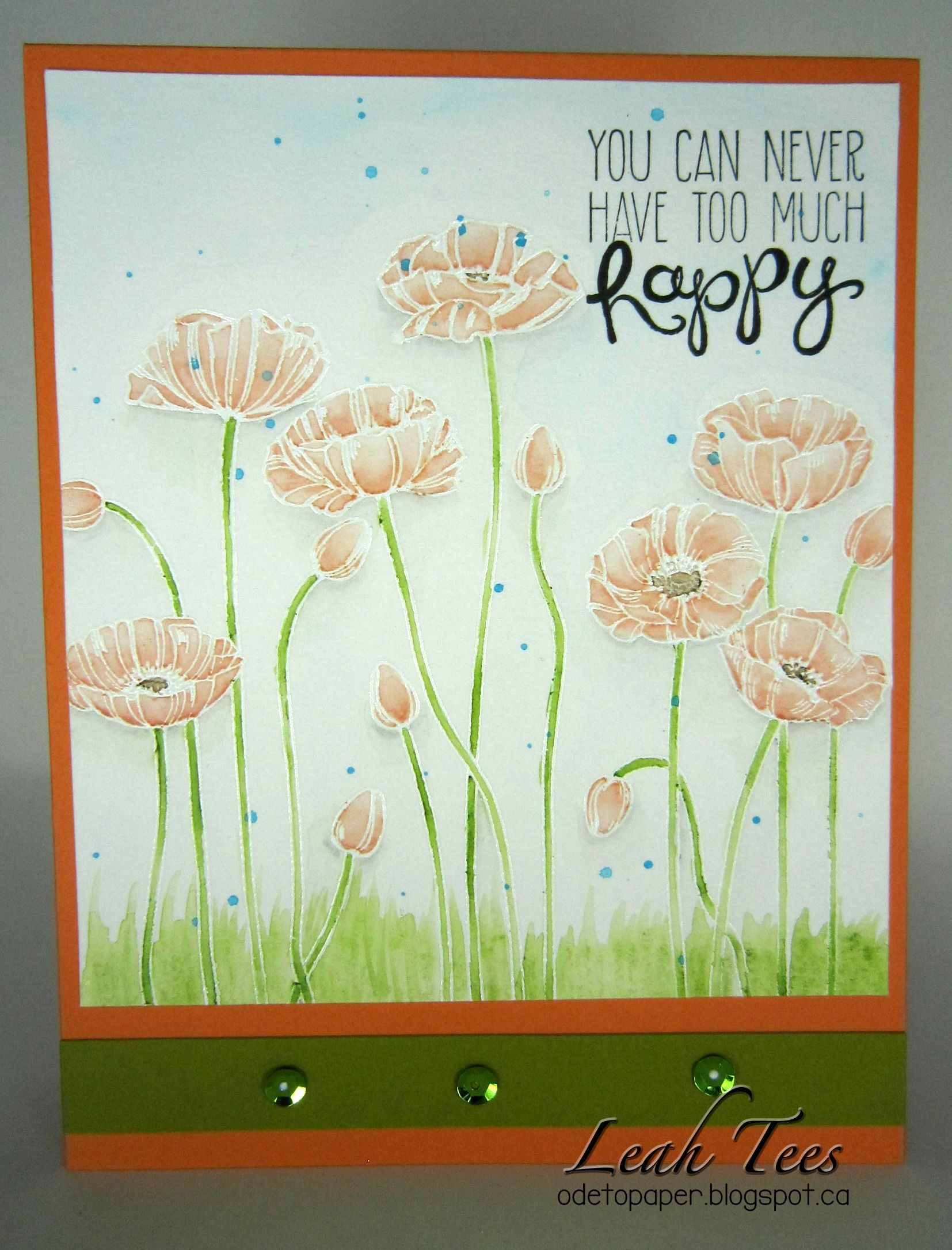 Feature Fridays inspiration using Prima Watercolor Pencils, September 2016, created by Leah Tees, odetopaper.blogspot.ca