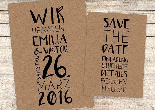 save the date | postkarte | wir heiraten! | deco casamiento, Einladung