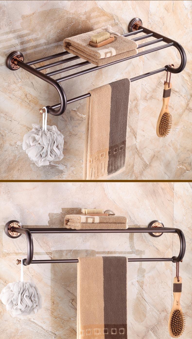 2019 Luxury Oil Rubbed Bronze Bathroom Towel Shelf Towel Rack