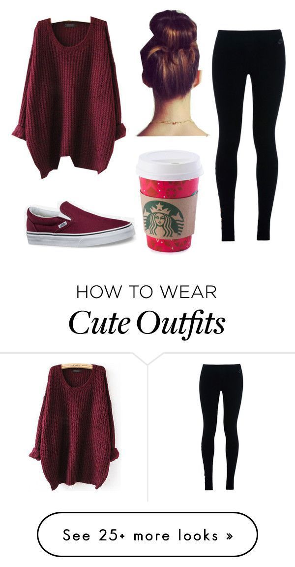 "Back To School Hairstyles : ""Untitled #6"" by cchristina71 on Polyvore featuring NIKE and Vans"