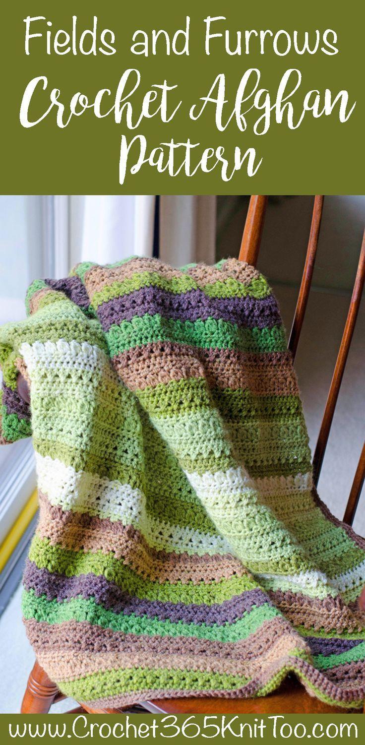 Fields and Furrows Crochet Afghan   yarn   Pinterest   Decken ...