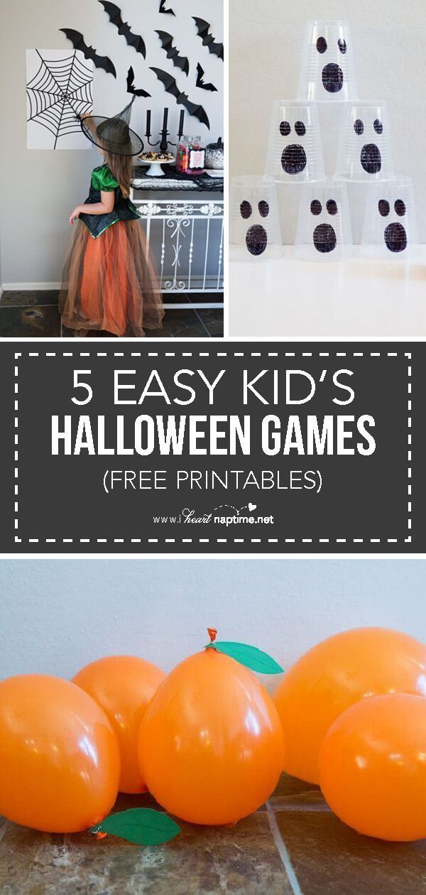 5 EASY Kids Halloween Games #halloweenpartygamesforkids