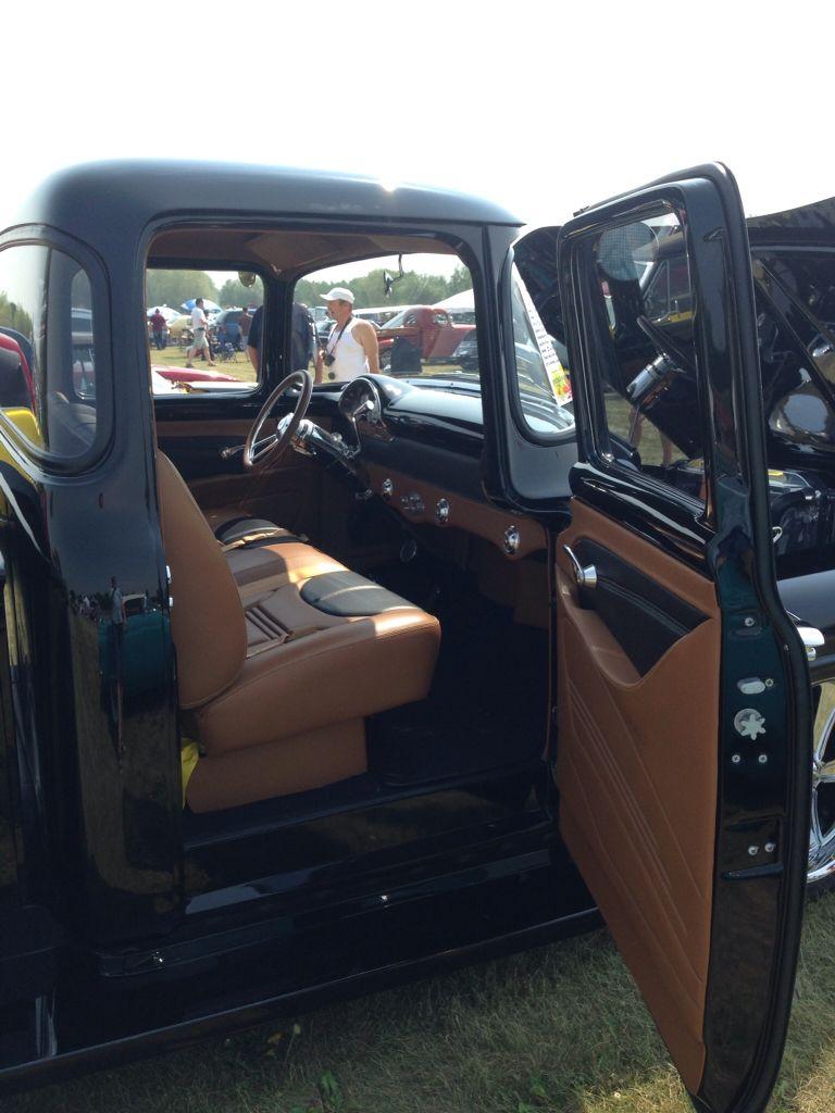 1956 Ford F100 Interior Truck Interior Custom Trucks Vintage Pickup Trucks