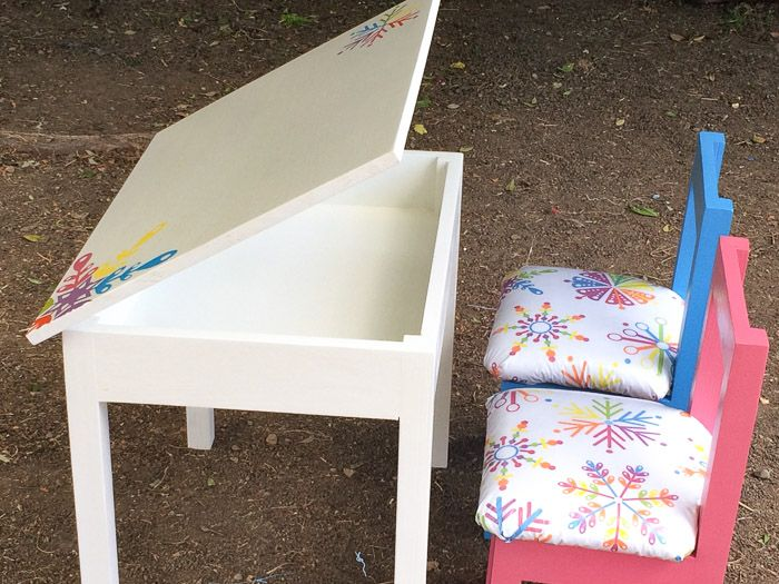 Build an Easy DIY Kids Table with Storage Storage Desks and Clutter