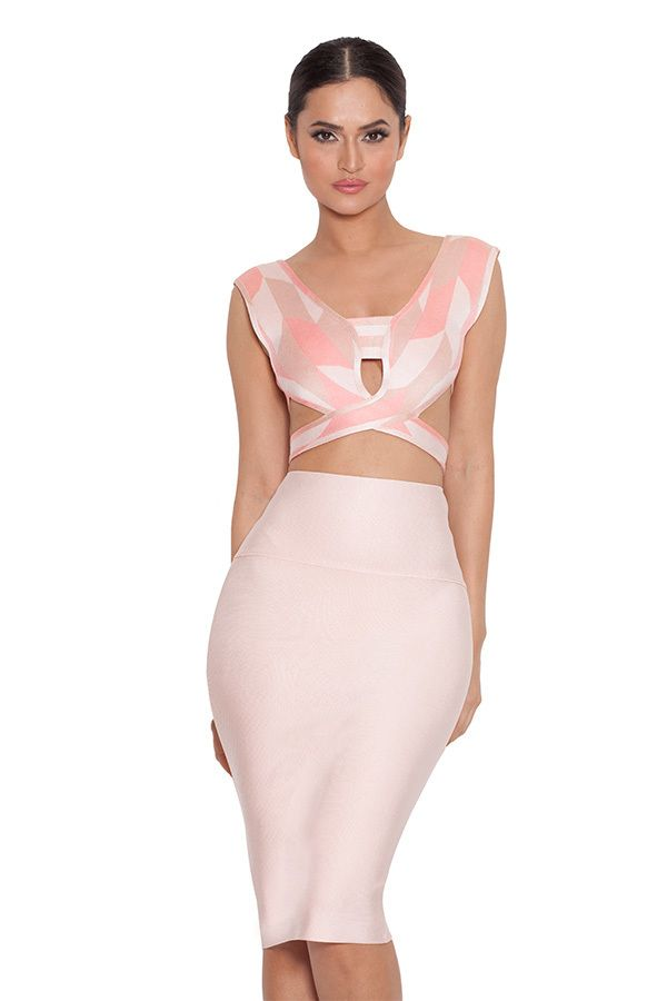 d5cc8ac67c Sexy Rayon Cut Out 2 Piece Bandage Dress | Two Pieces Bandage Dress ...