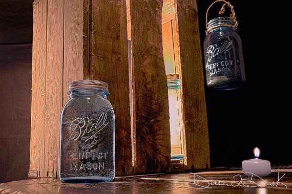 Ball mason jar art crate and shine by Dawn2DuskPhotography on Etsy