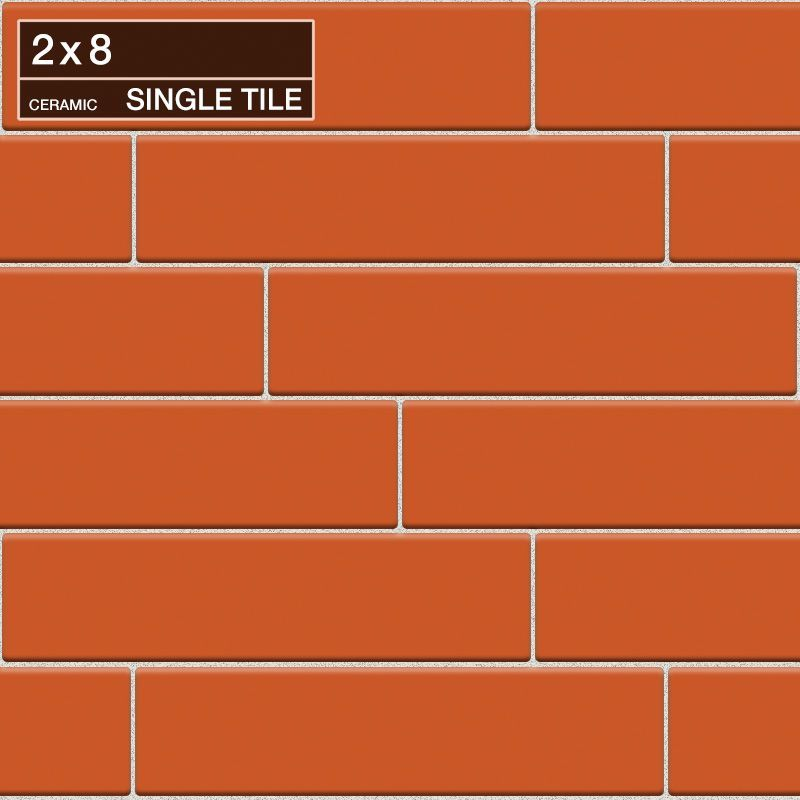 "Daltile QH71-281P Natural Hues Mango 8"" x 2"" Flat Ceramic Multi-Surface Tile (Sp Mango Tile Multi-Surface Tile Field Tile"