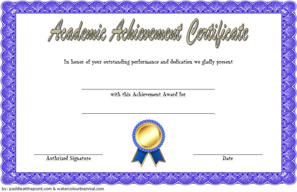 Academic Achievement Certificate Template Outstanding Academic