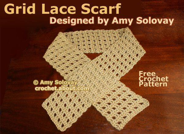 Crochet an Easy Grid Lace Scarf with This Free Pattern | Winter ...