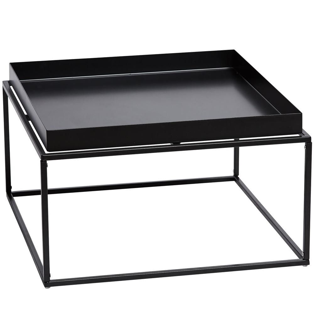 Marion Tray Coffee Table Black Minimalist Coffee Table Clean