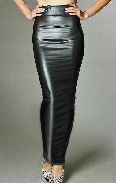 9930408ff8 Black Leather Pencil Skirt, Leather Mini Skirts, Leather Dresses, Pencil  Skirt Outfits,