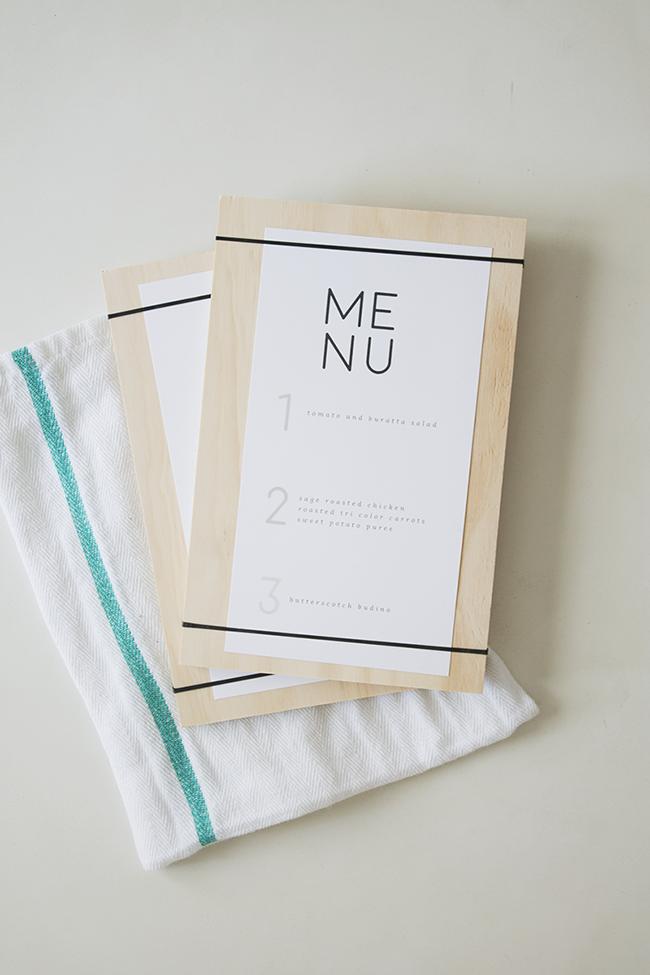 Diy Wood Rubber Band Menus With Free Printable Almost Makes Perfect Diy Menu Free Printable Menu Printable Menu Template