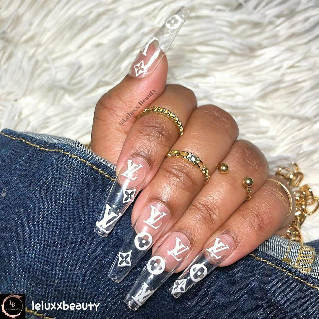 Pin by Babygirl Ray💕 on mas Louis vuitton nails, Glass