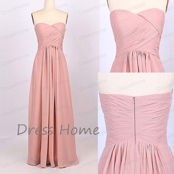 Cheap Bridesmaid Dress Long/Sweetheart Prom por DressHome en Etsy ...