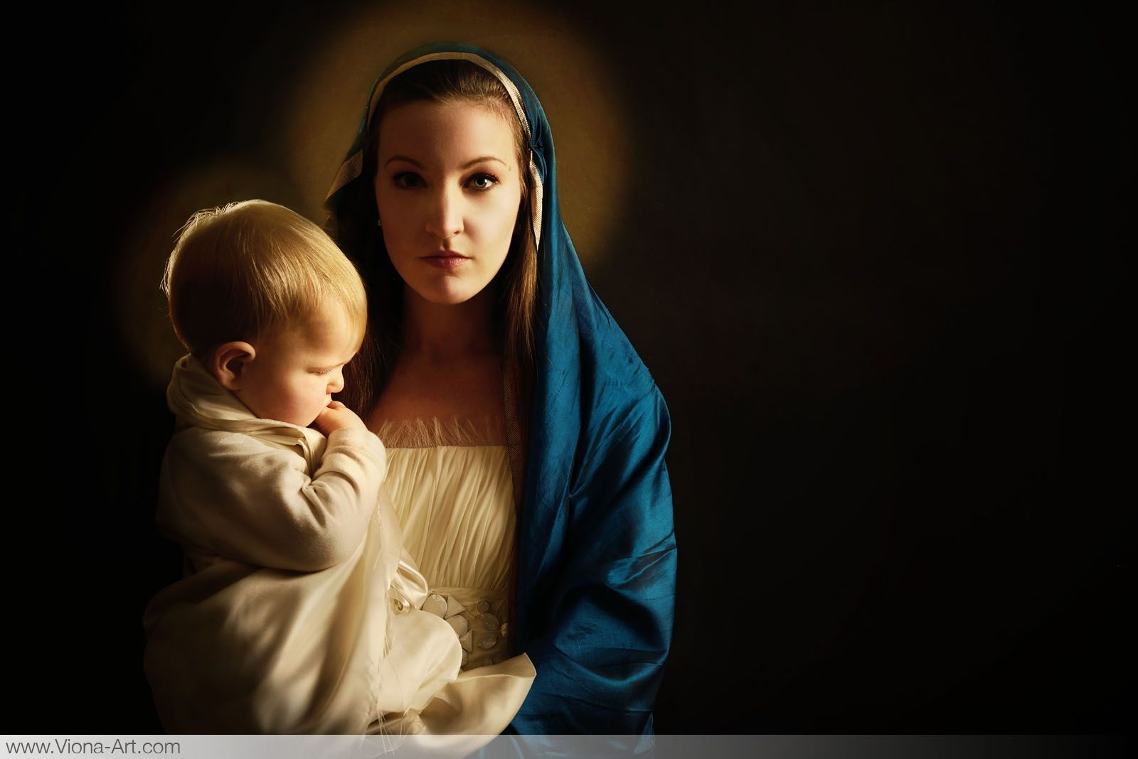 """""""the Child""""  Hail Mary, full of grace. Our Lord is with thee. Blessed art thou among women, and blessed is the fruit of thy womb, Jesus. Holy Mary, Mother of God, pray for us sinners, now and at the hour of our death. Amen."""