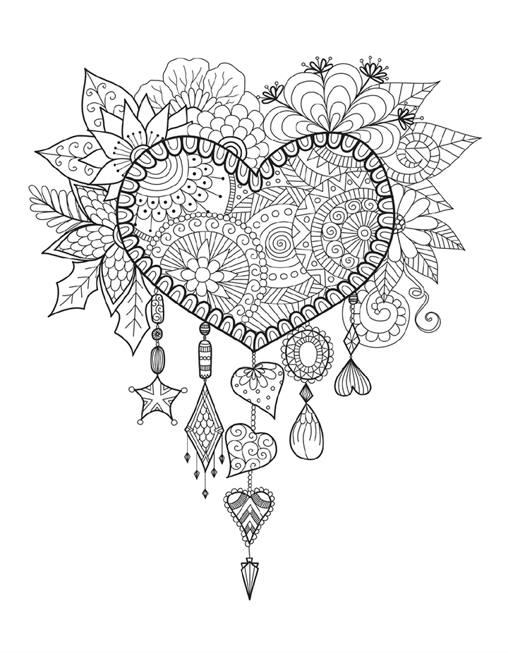 Sales Page Coloring Book Cafe Dream Catcher Coloring Pages Heart Coloring Pages Love Coloring Pages