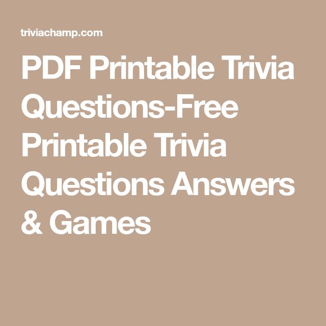 Science Facts Christmas: PDF Printable Trivia Questions-Free Printable Trivia
