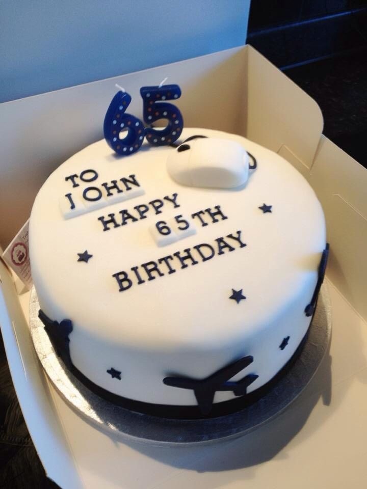 Pleasing 65Th Birthday Cake Planes And Computer Theme 65 Birthday Cake Personalised Birthday Cards Cominlily Jamesorg