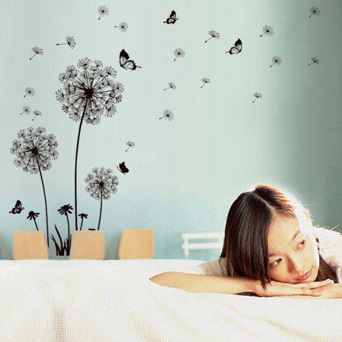 Fashion Black Dandelion Pattern Wall Sticker For Livingroom
