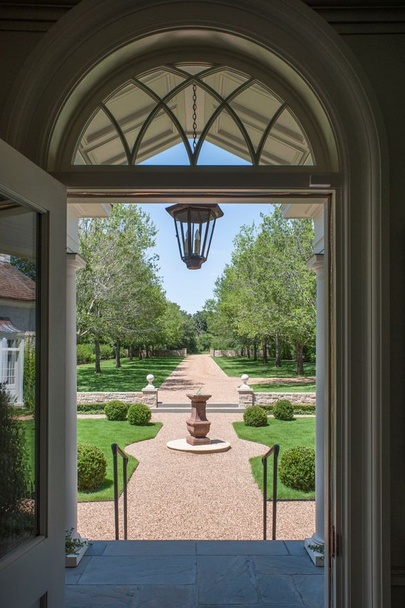 Longwood Farm - Curtis & Windham Inc.-looking out front door, gravel ...