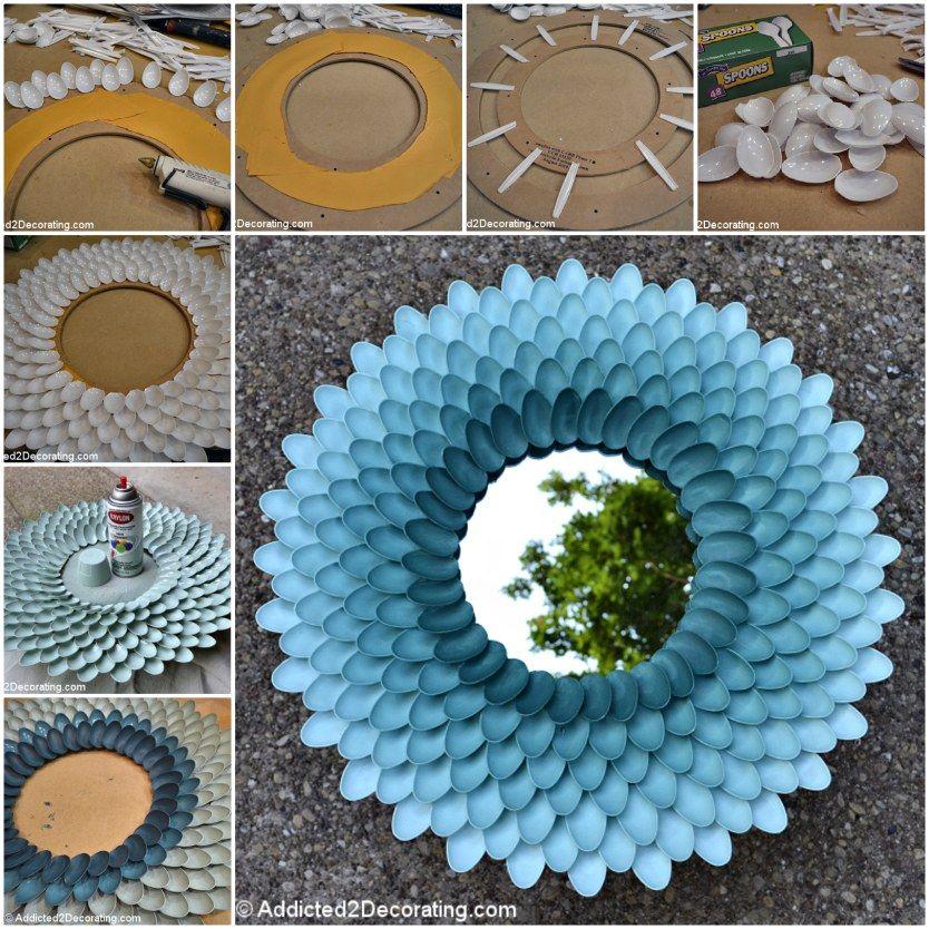 Plastic Spoon Mirror DIY Very Easy Video