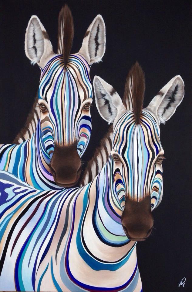 Pin de Mari en arta | Pinterest | Cebras, Cuadro y Pinturas