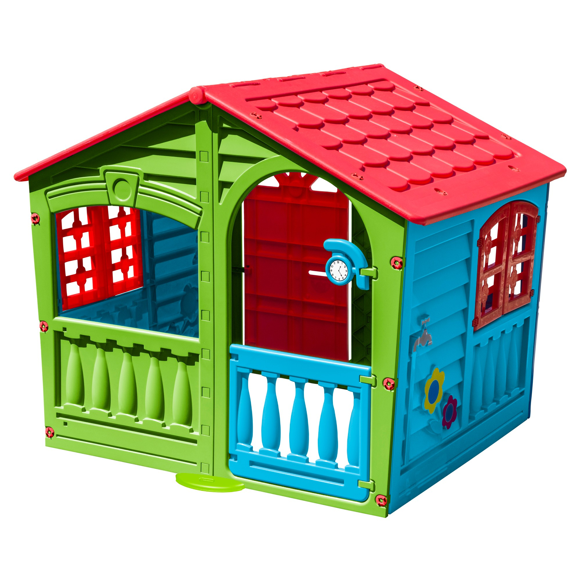 PalPlay House of Fun Playhouse - Green/Red/Blue, Multi-Colored ...