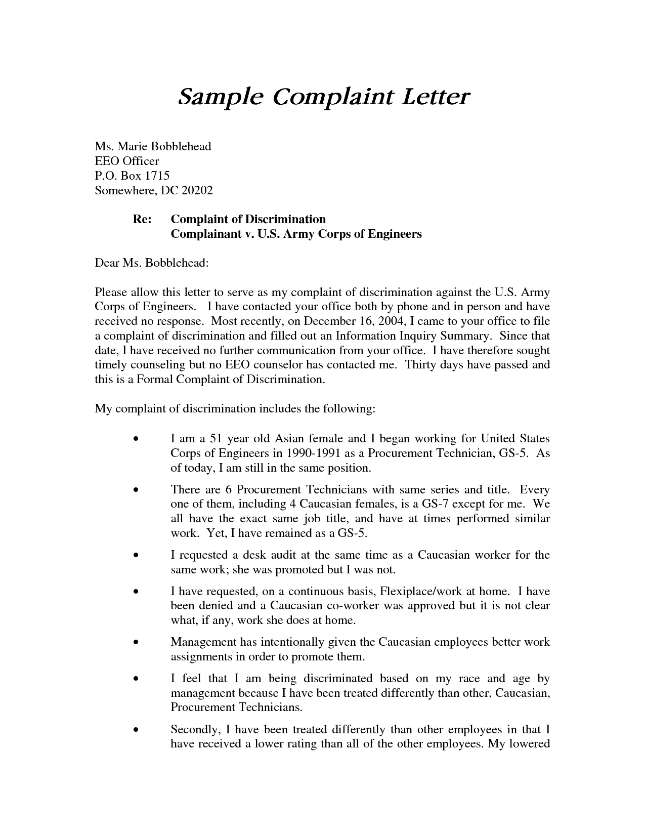 Compudocs Us New Sample Resume How To Write A Harassment Complaint Letter  Template