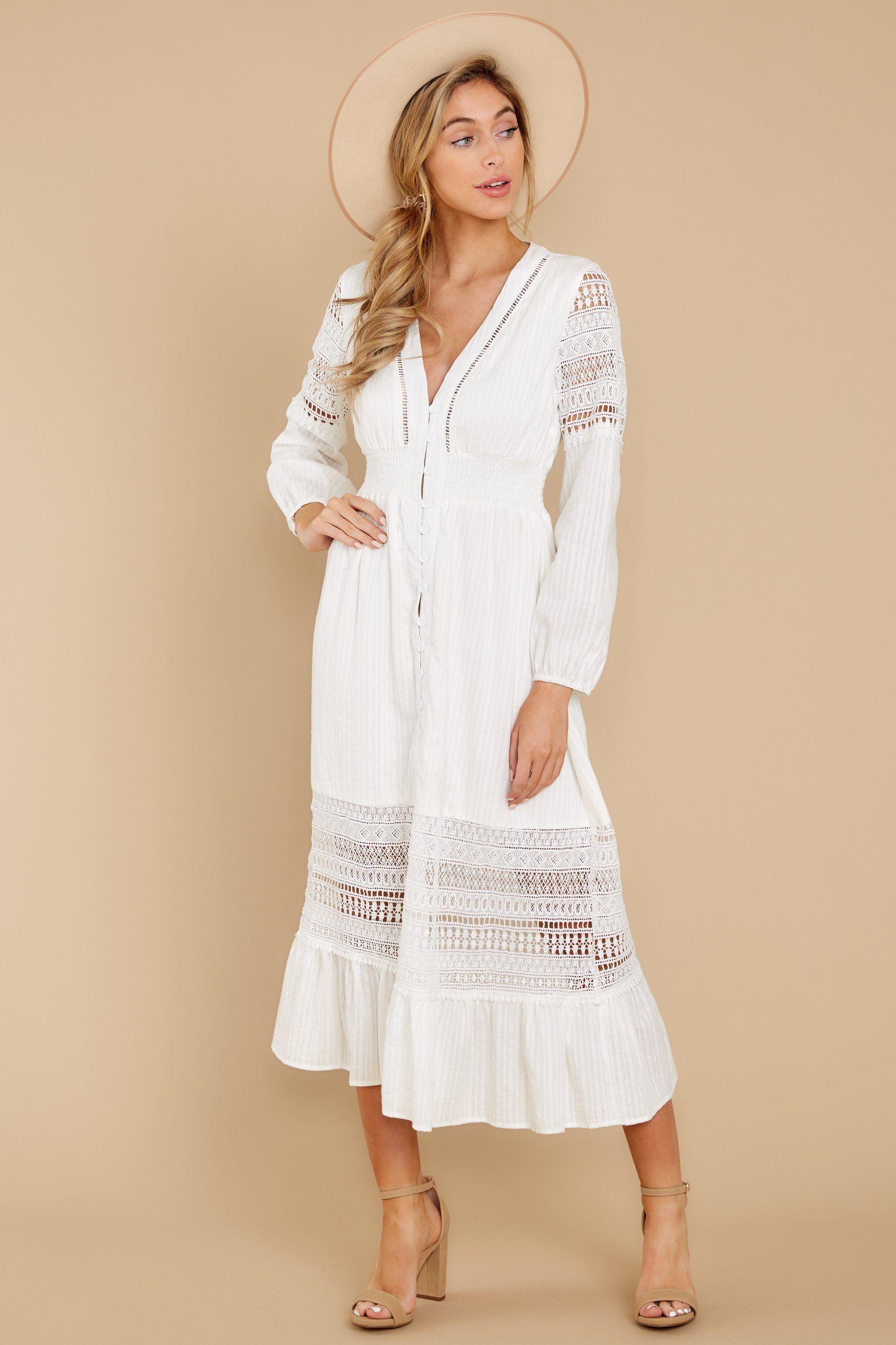 Call this classic white lace midi dress in 2020 midi