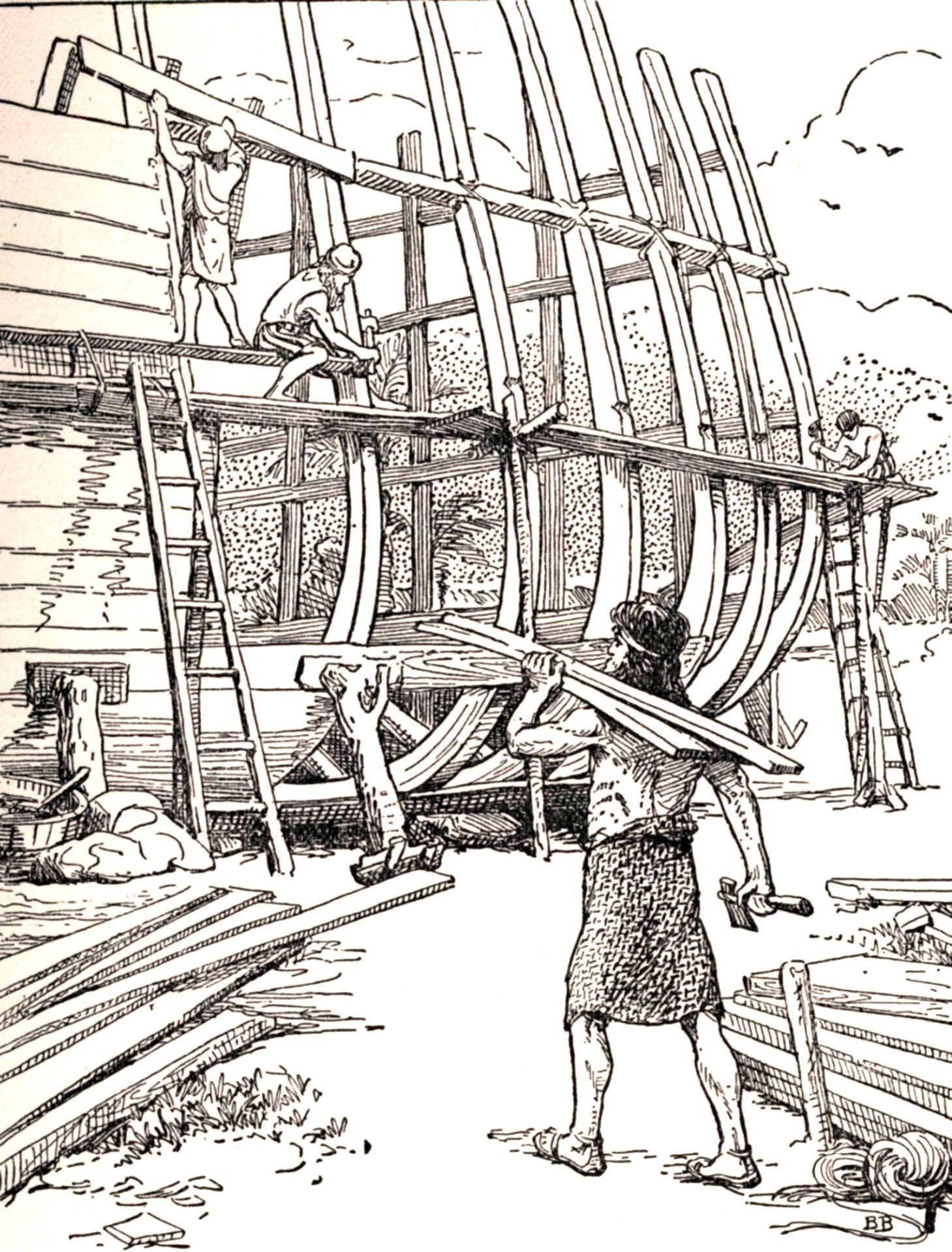 Image Result For Coloring Page Of Noah Building The Ark
