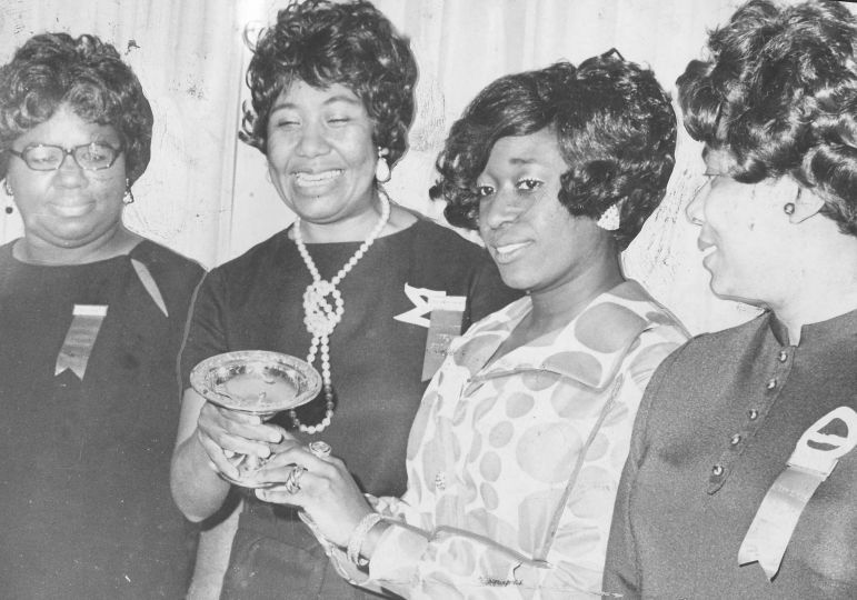 Members of the Delta Sigma Theta sorority, Laura Knight, Marval Scott, Thelma Cox, Chapelle Armstead
