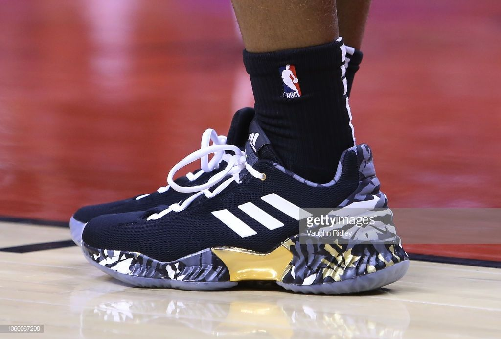 The shoes worn by Kyle Lowry of the