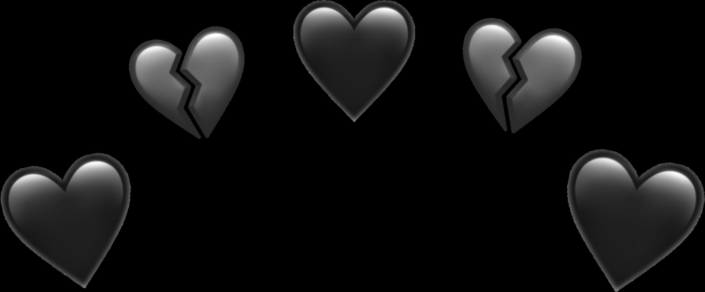 Download Black Heart Emoji Png PNG GIF BASE in 2020