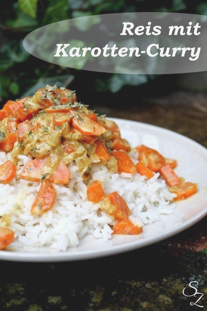 Reis mit Karotten Curry • Schokokuss und Zuckerperle #abendessen #fitness #fitnessabendessen