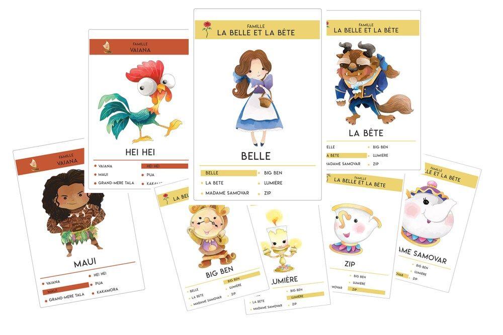 Jeu De 7 Familles Disney A Imprimer Plume Picoti Famille Disney Jeux Disney Jeux Des 7 Familles