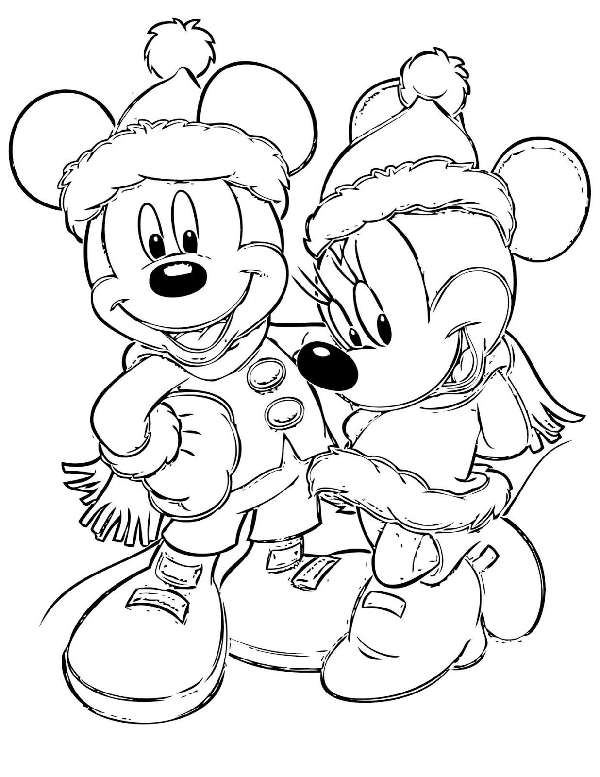Free Disney Christmas Printable Coloring Pages for Kids ... | 1600x1236